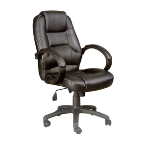 Executive Computer Office Black Leather Chair Race Car Style